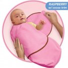 Kiddopotamus SwaddleMe blanket in BERRY Bamboo - Small