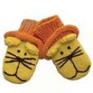 Zooni handmade puppet mittens LEO the LION - 3T-5T