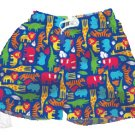 iPlay Swim Trunks with Swim Diaper in Jungle fabric - 6m