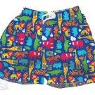 iPlay Swim Trunks with Swim Diaper in Jungle print - 18m
