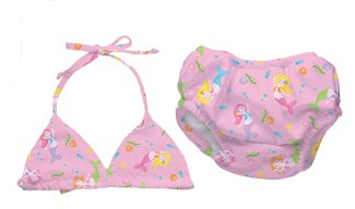 iPlay two-piece Bathing Suit with swim diaper - PINK - 18m