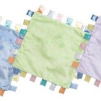 iPlay Velvety ChiChi baby blanket with satin tabs - SAGE