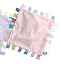 iPlay Velvety ChiChi baby blanket with satin tabs - PINK