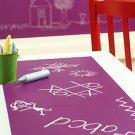 WALLIES Chalkboard sheets 2pk - GRAPE