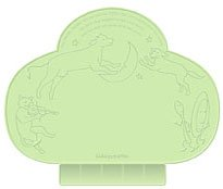 Kiddopotamus Tiny Diner portable placemat - Green