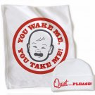 WRY Baby 'You Wake Me, You Take Me' blanket and cap