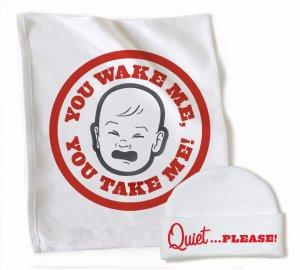 WRY Baby 'You Wake Me, You Take Me' blanket and cap