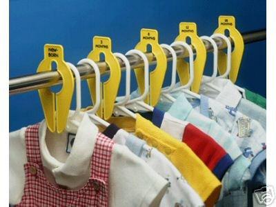 Baby Buddy Closet Organizers/Clothes Separators, YELLOW