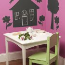 WALLIES Chalkboard reusable vinyl shapes- HOUSE and TREES