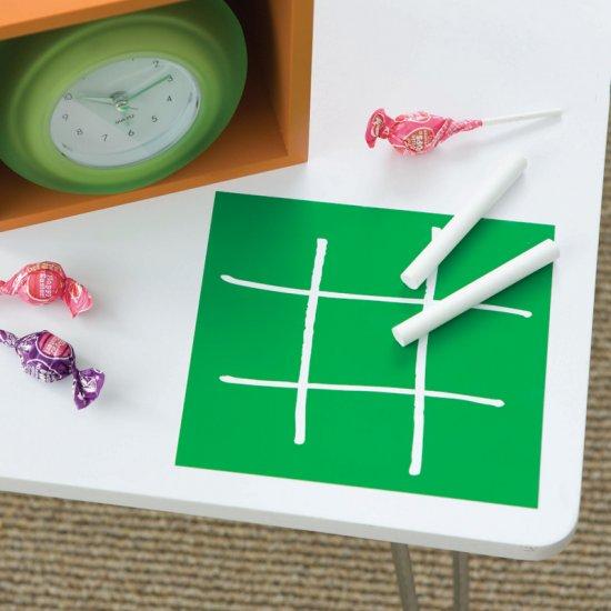 WALLIES Chalkboard sheets 2pk - TIC TAC TOE