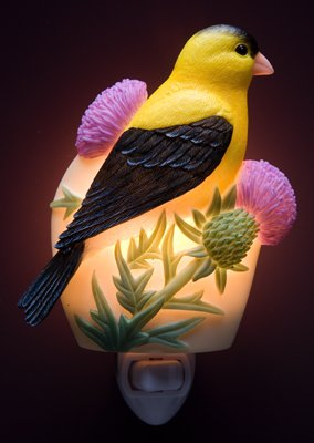 Goldfinch on Thistle Nightlight - Ibis & Orchid Designs