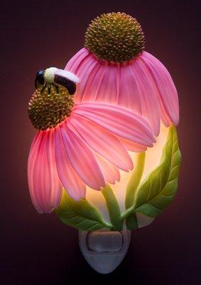 Coneflower & Bee Nightlight - Ibis & Orchid Designs