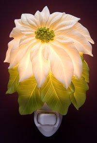 White Poinsettia Nightlight - Ibis & Orchid Designs