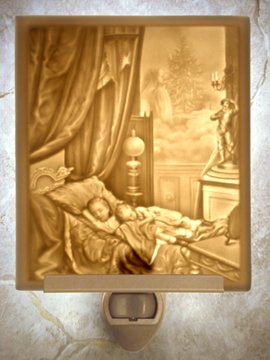 Dreaming of Christmas Flat Lithophane Nightlight