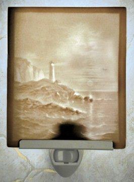 Lighthouse Flat Lithophane Nightlight