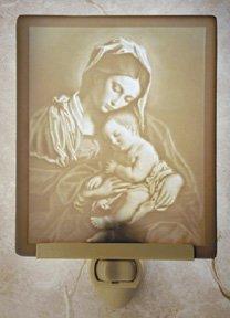Madonna & Child Flat Lithophane Nightlight