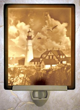 Portland Head Lighthouse Flat Lithophane Nightlight
