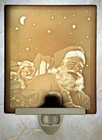 Night Before Christmas Flat Lithophane Nightlight