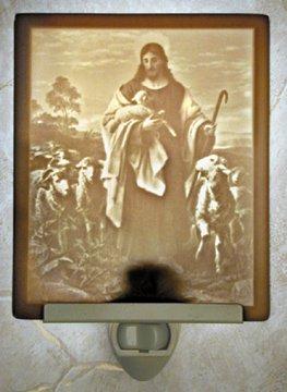 Good Shepherd Flat Lithophane Nightlight