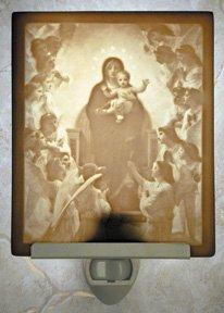 Virgin with Angels Flat Lithophane Nightlight