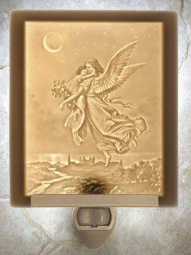 Guardian Angel Flat Lithophane Nightlight