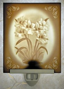 Orchids Flat Lithophane Nightlight