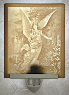 In Angels Arms Flat Lithophane Nightlight