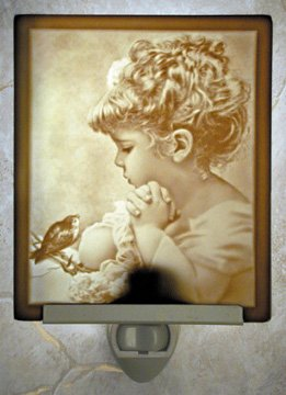 Songbird Flat Lithophane Nightlight