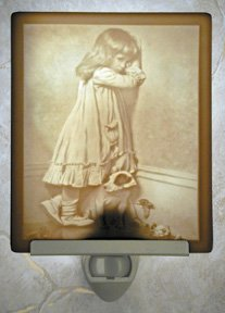 Time Out Flat Lithophane Nightlight