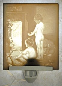 After the Bath Flat Lithophane Nightlight