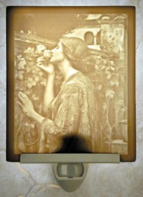 Sweet Rose Flat Lithophane Nightlight