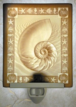 Nautilus Flat Lithophane Nightlight