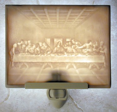 The Last Supper Flat Lithophane Nightlight