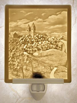 Winemakers Hands Flat Lithophane Nightlight