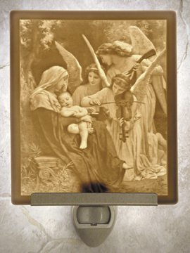 Song of the Angels Flat Lithophane Nightlight