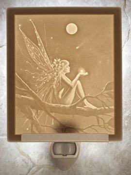 Catch A Falling Star Fairy Flat Lithophane Nightlight