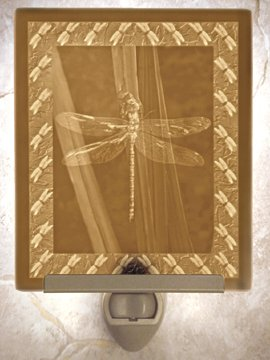 Dragonfly Flat Lithophane Nightlight