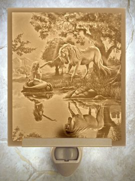 If I Were a Mermaid Flat Lithophane Nightlight