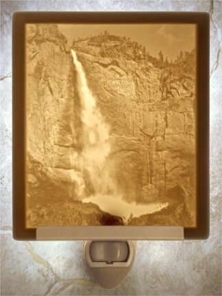 Yosemite Falls Flat Lithophane Nightlight