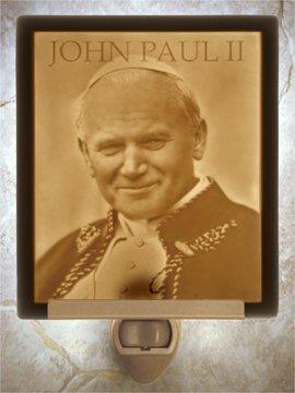 Pope John Paul II Flat Lithophane Nightlight