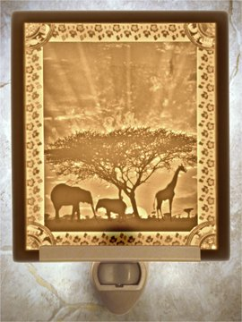 African Sunset Flat Lithophane Nightlight