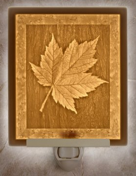 Maple Leaf Flat Lithophane Nightlight