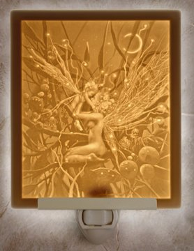 Fairy Mother & Child Flat Lithophane Nightlight