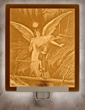 Guardian Angel 2 Flat Lithophane Nightlight
