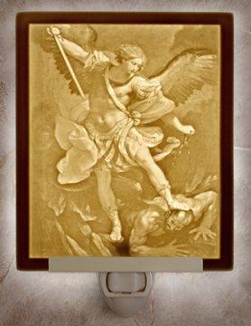 St. Michael Archangel Flat Lithophane Nightlight