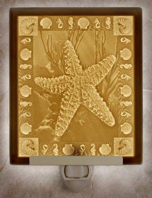 Starfish Flat Lithophane Nightlight