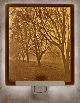 Misty Meadows Flat Lithophane Nightlight