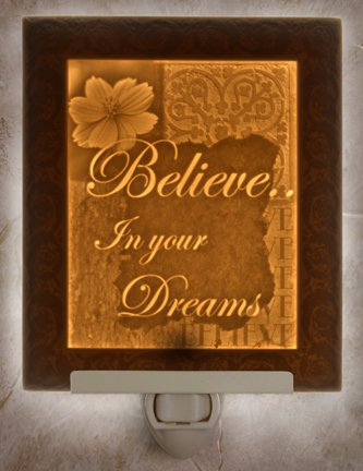 Believe  Flat Lithophane Nightlight
