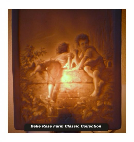 Stealing Apples Belle Rose Farm Classic Lithophane Collection