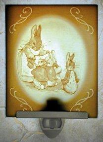 Rabbit Family Belle Rose Farm Classic Lithophane Collection